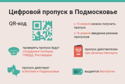 Инструкция по пропускам на самоизоляции для Москвы и Московской области